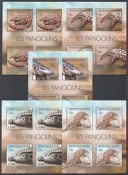 Красивые марки фауна Броненосцы