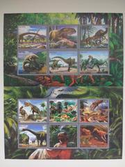 Красивые марки фауна Динозавры