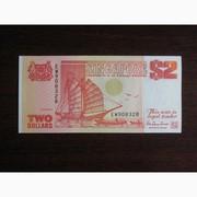 2 доллара Сингапура 1990 UNC