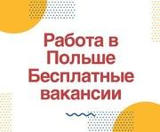 Официальное трудоустройство в Польше. Бесплатные вакансии.