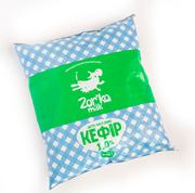 Кефир с коровьего молока Zorka Milk 1% и 2, 5%