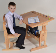 Школьная парта и стул растущая